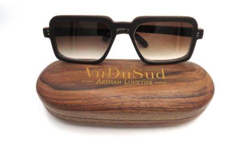 lunette en bois et insert or VuDuSud sur mesure Narbonne